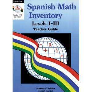 Math Inventory Series Ser) (9780825121685) Stephen S. Winter Books