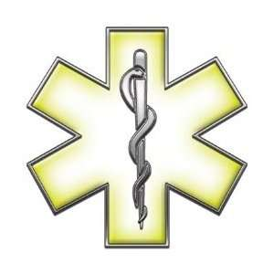 Star of Life EMT EMS Yellow 4 Reflective Decal