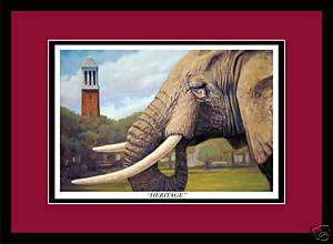 Alabama Football Denny Chimes elephant print framed