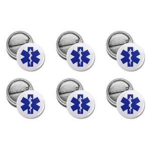 Blue EMT EMERGENCY MEDICAL TECHNICIAN Symbol Fire Rescue Heroes 6 Pack