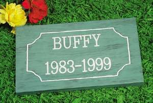 ENGRAVED name dog Cat Pet Memorial grave marker statue