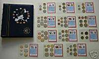 12 NATION PRE EURO ZONE COIN COLLECTION in FANCY ALBUM