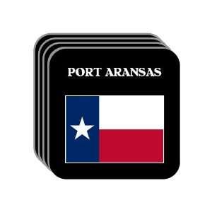 US State Flag   PORT ARANSAS, Texas (TX) Set of 4 Mini