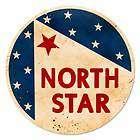 North Star Gasoline Vintage Metal Sign Round Shop Garag