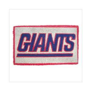 NFL New York Giants Natural Coir Fiber Welcome Mat Sports & Outdoors