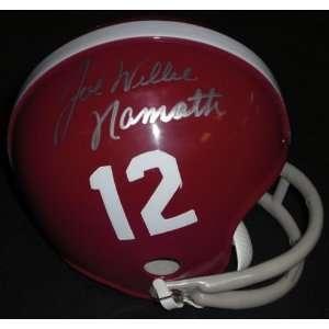 Joe Willie Namath Autographed Alabama Crimson Tide Mini