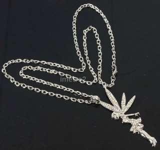 necklace ballet dancer fairies flower fairy swarovski crystal fashion