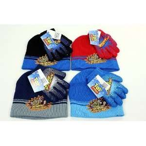 Disney Pixar Toy Story Boys Knit Winter Hat Gloves 2pc Set