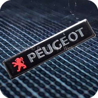 2769b1f1 peugeot aluminium alloy metal resin 3d chrome car plate badge