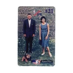 Kennedy Collectible Phone Card $21. John & Jackie Kennedy