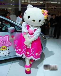 New Hello Kitty Adult Mascot Costume Fancy Party dress
