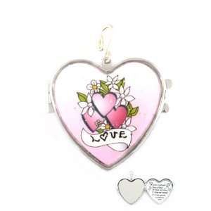Fashion Jewelry ~ Love Heart Locket Hook Pendant Sports