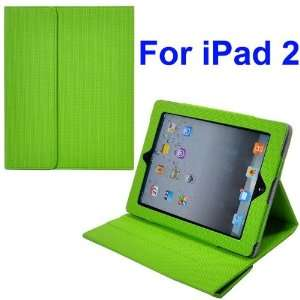 Stylish Magnetic Smart Cover Stand Leather Case for iPad 2