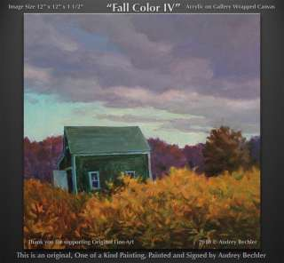 Shed Farm Fall Color IV Landscape Painting Bechler