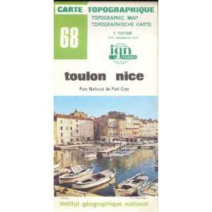Map 68 France Toulon Nice Carte Topographique: none: Books