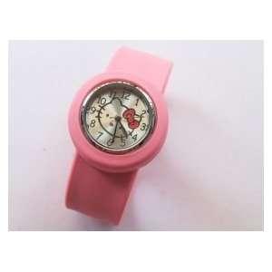 Kitty Wrist Watch Braceletk Jelly Slap Color Pink