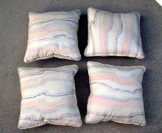 HAND PAINTED SILK 15 Square Accent Pillows   Pastels