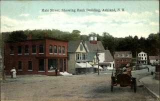ASHLAND NH Main Street Scene OLD CAR c1910 PC