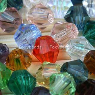 300pcs Mixed 4mm Glass Lots Bicone Loose Crystal Beads