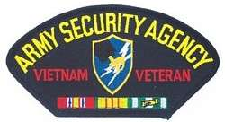 PATCH ARMY SECURITY AGENCY VIETNAM VETERAN CAP HAT JACKET PATCH