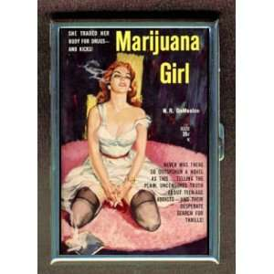 MARIJUANA GIRL DRUGS PULP ID Holder, Cigarette Case or Wallet MADE IN