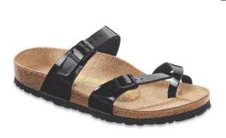 Womens Mayari Black Patent Leather Birko Flor Sandal 7109