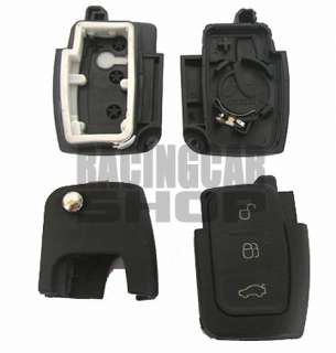 Folding Key Remote Case FOB 3 Buttons Focus C Max Galaxy Kuga Mondeo