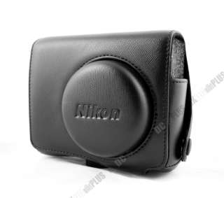 For NIKON COOLPIX P7000 Leather Camera Case bag (black)