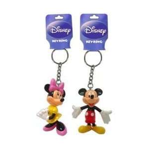 Disney Mickey Mouse and Minnie Mouse 3D Figure Keychain