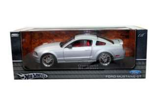 HOT WHEELS FORD MUSTANG GT COUPE DIECAST MODEL 1/18 SILVER NEW