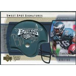 2004 Upper Deck Sweet Spot Signatures Gold #SSBW Brian