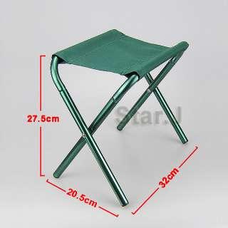 Outdoor Camping Fishing Picnic Hiking Aluminum Folding Stool Chair