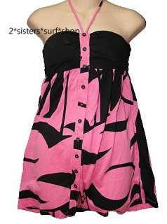 NEW FOX RACING Hot Pink Tube Top Dress Shirt Sz M