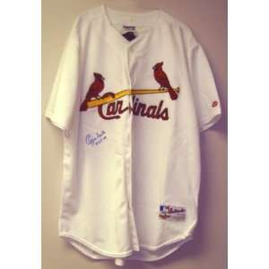 Ozzie Smith Signed Auth. St. Louis Cardinals Jersey w/ HOF