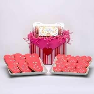 Valentines Day Sugar Cookies Gift Basket   Dozen Hearts