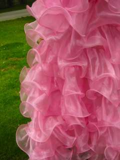 Custom SISSY Organza cabaret Drag queen Ruffle SKIRT