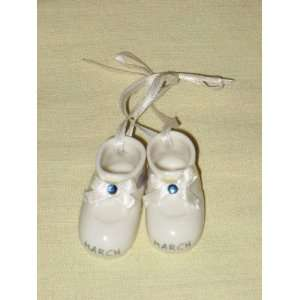 1998 Roman   Pair of Porcelain Miniature  March  Baby Shoes Figurine