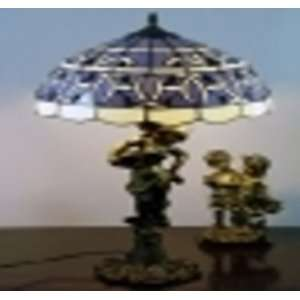 Tiffany Style Blue Child Lamp