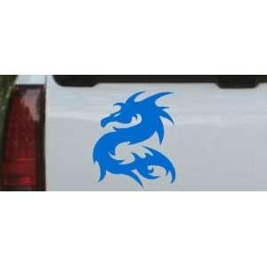 Blue 3in X 3.5in    Tribal Dragon Car Window Wall Laptop