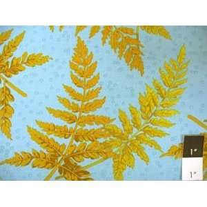 Martha Negley Fern Blue Cotton Fabric: Home & Kitchen