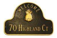 16 House Office Custom Pineapple Plaque Welcome Sign