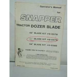 Tractor Dozer Blade operators manual McDonough power equipment Books