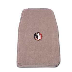 Beige Universal Fit Front Two Piece Floormat with NCAA Florida State