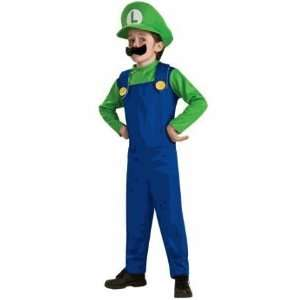 Super Mario, Luigi Costume Size Boy Medium (8) Toys & Games