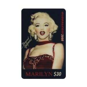Card $30. Marilyn Monroe Christmas 1993 (Red Gown from Waist Up