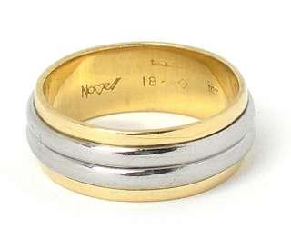 STUNNING NOVELL PLATINUM & 18K YELLOW GOLD BAND RING