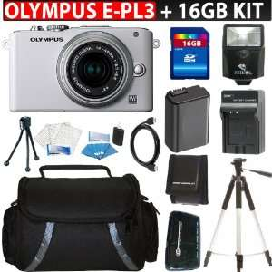: Olympus Pen E PL3 Micro 4/3 Digital Camera & 14 42mm II Lens (White