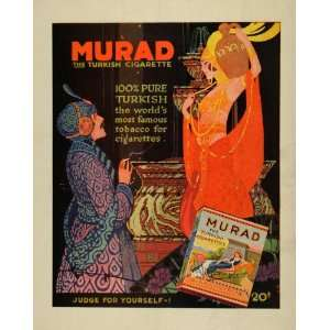 1919 Ad Murad Turkish Cigarettes Dancer Women Tobacco
