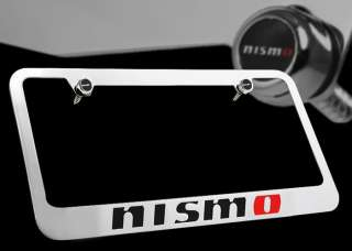 Nissan Nismo Front Rear Chrome Metal License Plate Frame with Nismo