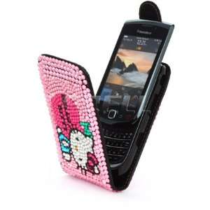Ecell   PINK HELLO KITTY LEATHER BLING CASE FOR BLACKBERRY